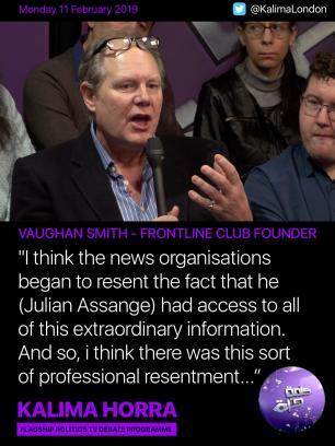 Vaughan Smith - Julian Assange debate on Kalima Horra show