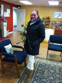 One of our members displaying her Valentine's Day treat!
