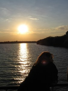 Me enjoying a Zambezi River sunset cruise