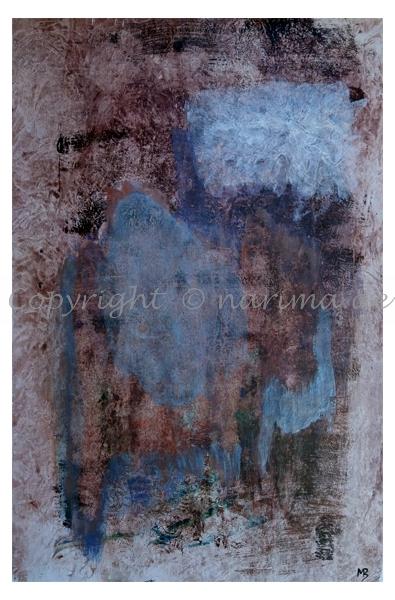 0121 - ohne Titel - 2020/06 - Original: Acryl auf Vlies - ca. 50 x 76 cm