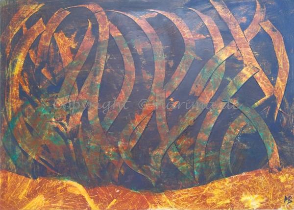 0127 - ohne Titel - 2020/07 - Original: Acryl auf Vlies - ca. 50 x 70 cm