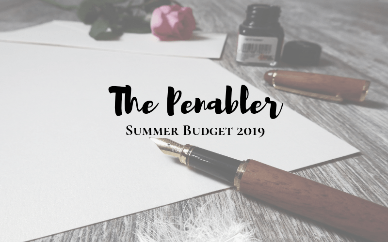 The Penabler - Summer Budget Releases 2019