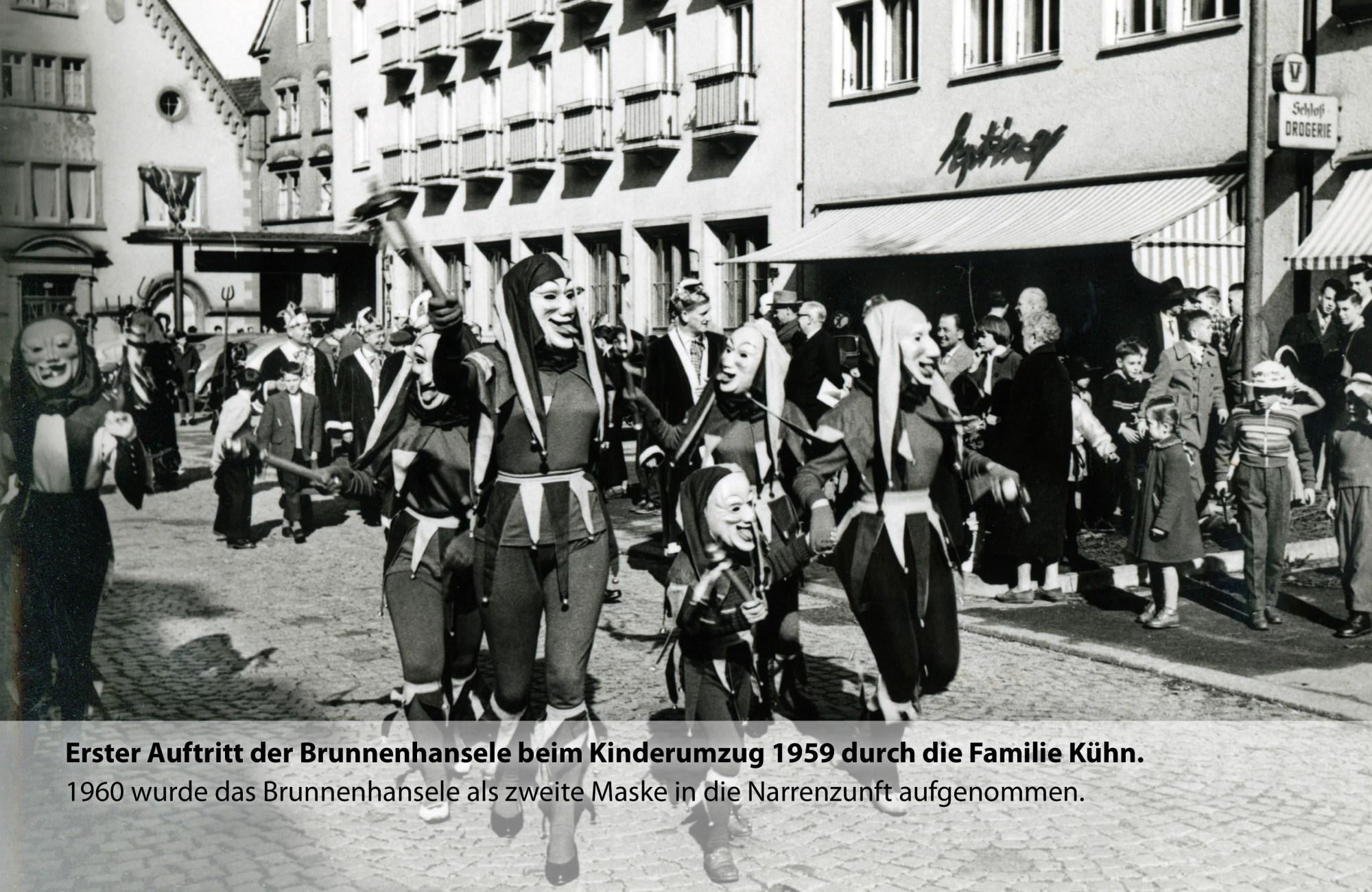 Die erste Brunnenhansele werden heir von der Familie Kühn 1959 vorgestellt.