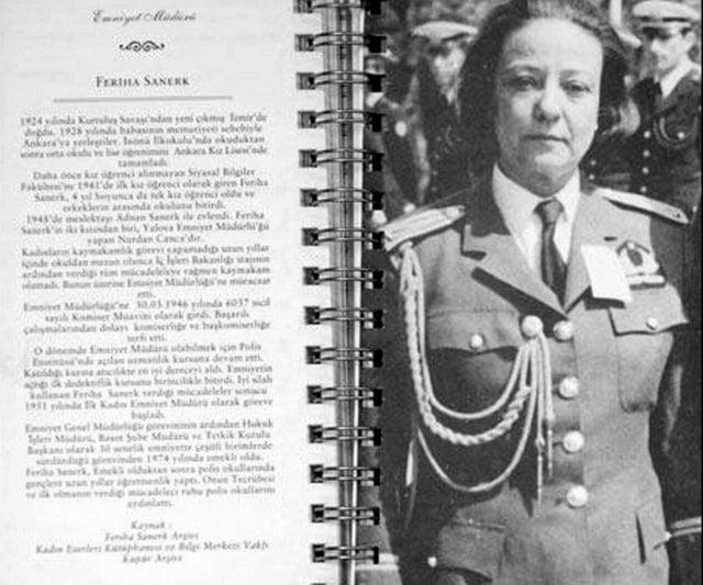 İlk kadın emniyet müdürü-Feriha Sanerk