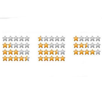 5段階評価 星型大 - フリーWEB素材サイト「DOTS DESIGN(ドッツ・デザイン)」