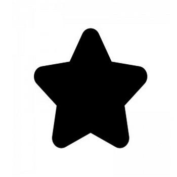 星のシルエット03 | 無料のAi・PNG白黒シルエットイラスト
