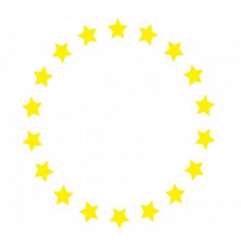黄色い星のフレーム飾り枠イラスト | 無料イラスト かわいいフリー素材集 フレームぽけっと