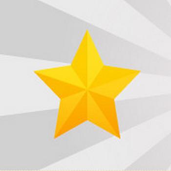 キラキラ星/スターのイラスト素材|商用可能な無料(フリー)のイラスト素材ならストックマテリアル