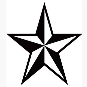 装飾 星(モノクロ) – 無料で使えるイラスト素材・PowerPointテンプレート配布サイト【素材工場】