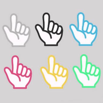 » 指でこちらの方向マークイラスト / (人差し指の矢印・重要ポイントにも) | 可愛い無料イラスト素材集