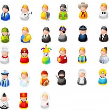 27種類のキャラクター!アバター・アイコン・クリップアート素材 - All Free Clipart +