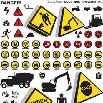 建設ですか?注意セキュリティのアイコン ベクター材料 | 無料素材イラスト・ベクターのフリーデザイナー