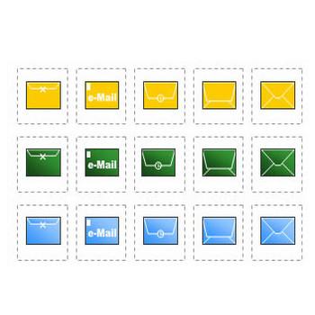 eメールのイラスト(パワーポイントフリー素材)