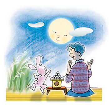 介護現場で使えるフリーイラスト集・お月見【MY介護の広場】