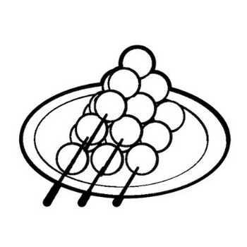 お月見団子のイラスト | 保育園・幼稚園のおたよりフリー素材「いらすとびより」