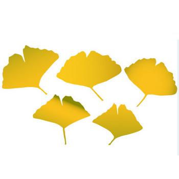 イチョウ(銀杏)のイラスト5点。ベクターデータ フリー無料素材。商用OK。 | 京都ホームページ制作日記