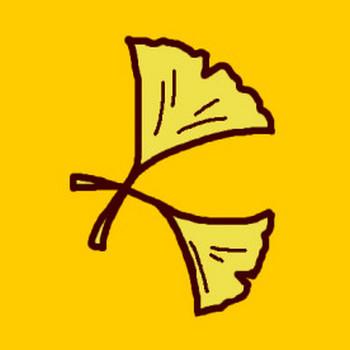 いちょう・銀杏(カラー)/秋/花・植物の無料イラスト/ミニカット・クリップアート素材