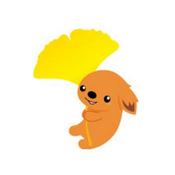 イラスト 秋のイメージ〈犬モチーフのイラスト素材〉