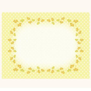 秋♪イチョウの葉っぱ! かわいい フレーム  イラスト | 商用フリー(無料)のイラスト素材なら「イラストマンション」