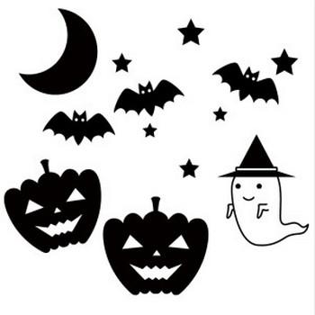 ハロウィンの白黒イラスト <無料> | イラストK