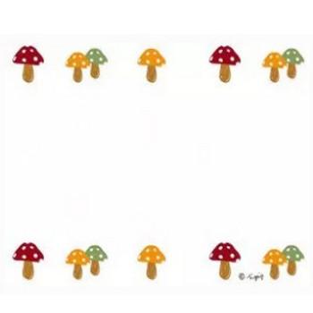 大人可愛いキノコの飾り罫のイラストの秋のwebデザイン素材;640×480pix | webデザイン素材 tigpig