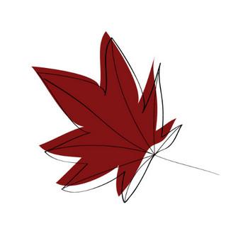 お洒落な秋のもみじの無料イラスト|AI・EPSの無料イラストレーター素材なら無料イラスト素材.com