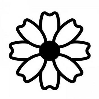 コスモスのシルエット02 | 無料のAi・PNG白黒シルエットイラスト