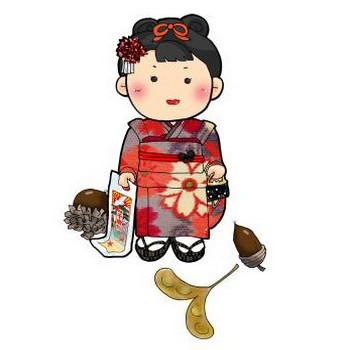 七五三(女子) | 素材屋HOUSE <ハウス> - 無料素材・手描き風のイラスト