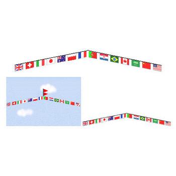 万国旗イラスト素材 スポーツ素材 運動会・国際イベント・競技大会・ワールドカップ・万国旗背景素材