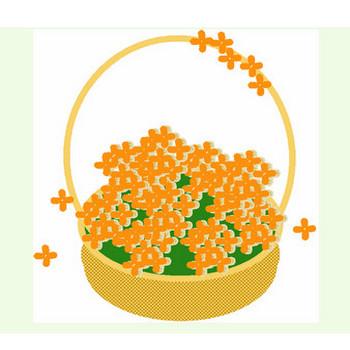 金木犀花かごイラスト♪ 毎日が、笑顔で元気♪/ウェブリブログ