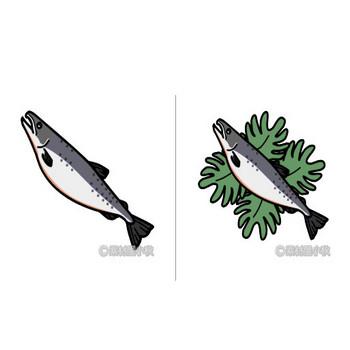 鮭のイラスト   素材屋小秋