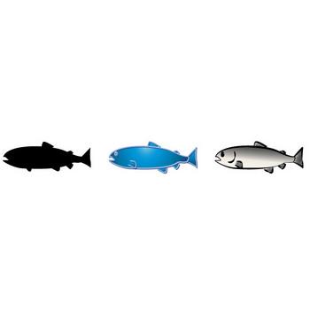 鮭(サケ)の無料イラスト