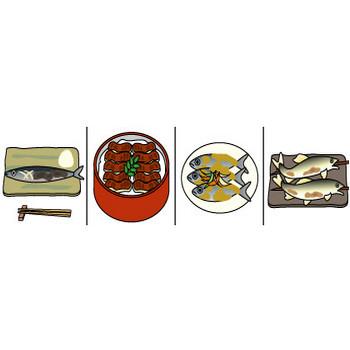 魚料理のイラスト|イラスト素材の素材ダス