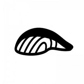 鮭・魚の切り身のシルエット   無料のAi・PNG白黒シルエットイラスト