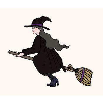 ハロウィン きれいな魔女のイラスト | 商用フリー(無料)のイラスト素材なら「イラストマンション」