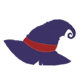 魔女の帽子 | フリーイラスト素材ならぴくらいく|イベント・動物・季節・食べ物