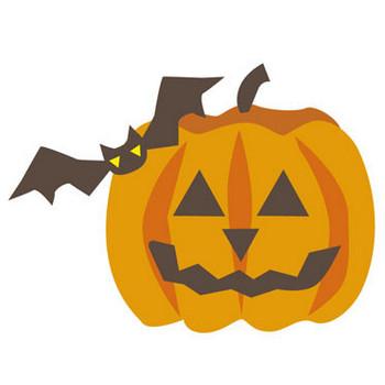 ハロウィン-パンプキン03:秋のそざい:キッズ@nifty