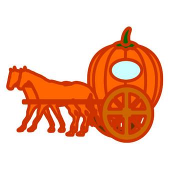 かぼちゃの馬車のイラスト | Illustcut.com