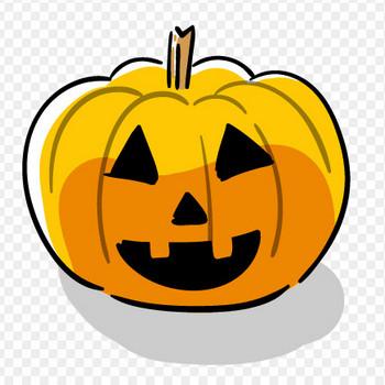 ハロウィンかぼちゃのフリーイラスト | おしゃれでかわいいフリーイラスト素材 イラストナビ
