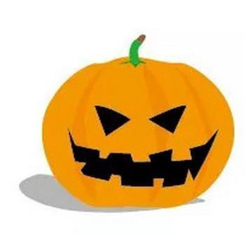 かぼちゃをくりぬいたお化け ハロウィン素材 | 【無料配布】イラレ/イラストレーター/ベクトル パスデータ保管庫【ai・eps ベクター素材】
