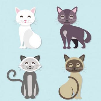 かわいい黒猫の無料イラスト ベクター画像 | 無料ダウンロード