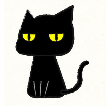 黒猫 | フリーイラスト素材ならぴくらいく|イベント・動物・季節・食べ物