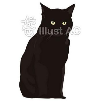 黒猫 | GARAGE SUKIMANEKO|すきまねこ|無料フリーイラスト素材集|商用利用OK|AIデータ・PNG・JPG