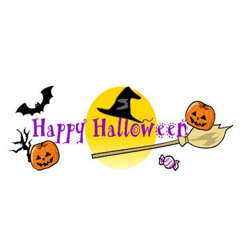 無料イラスト素材「ハロウィン・HappyHalloween2」