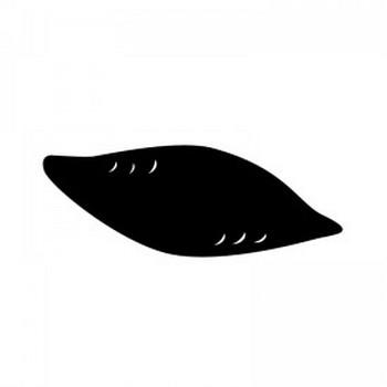 サツマイモのシルエット | 無料のAi・PNG白黒シルエットイラスト