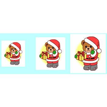 ベア1/クリップアート(web用イラスト素材)/クリスマス素材サンタ館