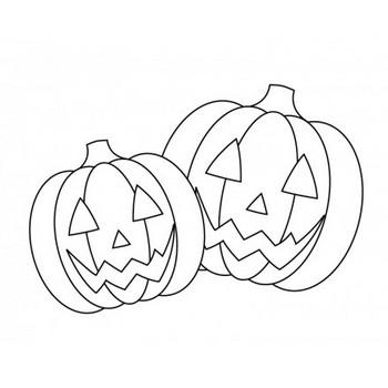 ぬりえ素材・かぼちゃ・ハロウィンのイラスト素材   イラスト無料・かわいいテンプレート