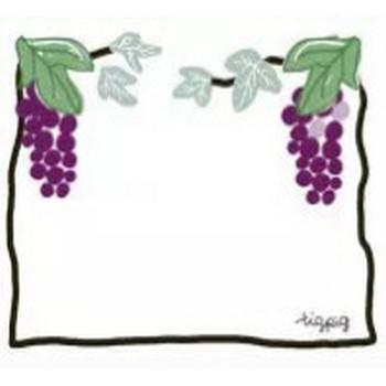 フリー素材:フレーム;ガーリーで大人可愛い葡萄(ブドウ)のイラスト素材 | webデザイン素材 tigpig