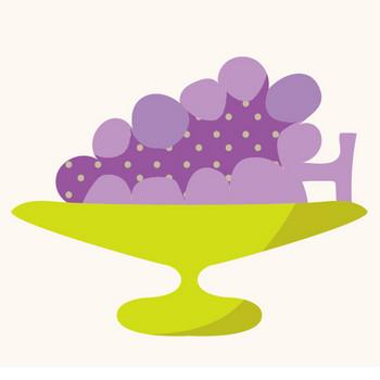 おしゃれでかわいい♪ぶどう(ブドウ,葡萄)のフリー イラスト | 商用フリー(無料)のイラスト素材なら「イラストマンション」