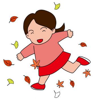 イラストポップの季節の素材 | 春夏秋冬の行事や風物のイラスト11月1-No20落ち葉の無料ダウンロードページ